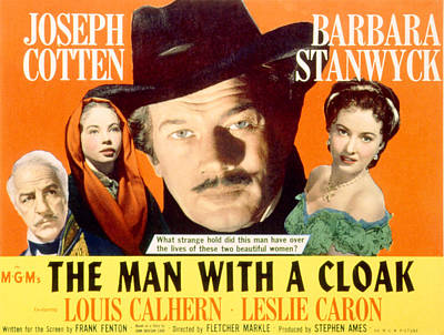 The Man With A Cloak, Louis Calhern Poster by Everett