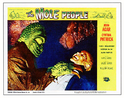 The Mole People, On Right Nestor Paiva Poster by Everett