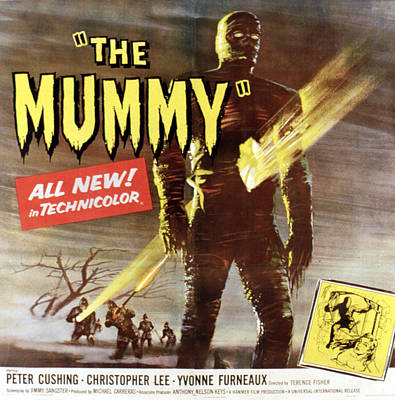 The Mummy, Christopher Lee, 1959 Poster by Everett
