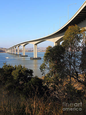 The New Benicia-martinez Bridge Across The Carquinez Strait In California . 7d10437 Poster by Wingsdomain Art and Photography