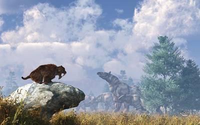 The Paraceratherium Migration Poster by Daniel Eskridge
