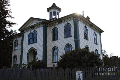 The Potter School House . Bodega Bay . Town Of Bodega . California . 7d12477 Poster by Wingsdomain Art and Photography