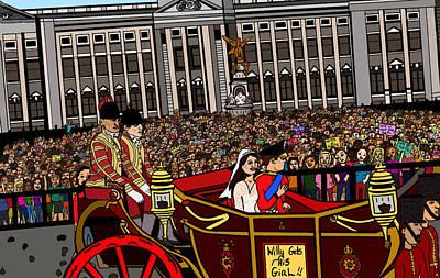 The Royal Wedding  Poster by Karen Elzinga