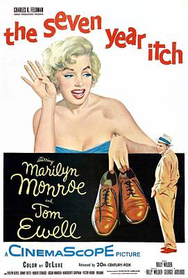 The Seven Year Itch, Marilyn Monroe Poster by Everett