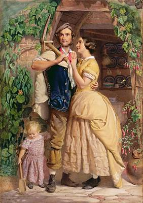 The Sinews Of Old England Poster by George Elgar Hicks