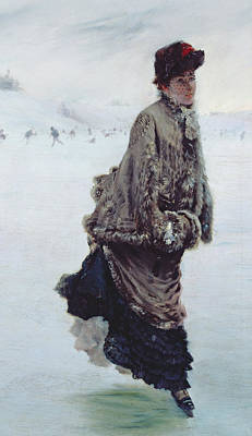 The Skater Poster by Joseph de Nittis