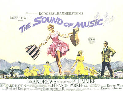The Sound Of Music, Julie Andrews Poster by Everett