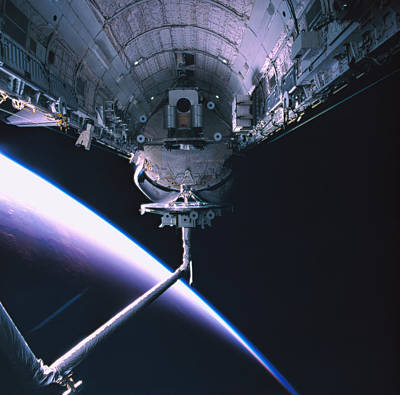 The Space Shuttle With Its Cargo Bay Open Poster by Stockbyte