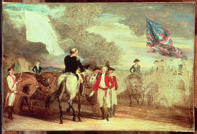 The Surrender Of Cornwallis At Yorktown Poster by John Trumbull