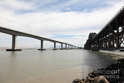 The Three Benicia-martinez Bridges In California - 5d18714 Poster by Wingsdomain Art and Photography