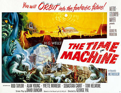 The Time Machine, Style B Half-sheet Poster by Everett