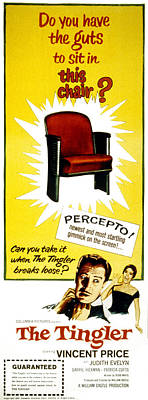 The Tingler, Vincent Price, Patricia Poster by Everett