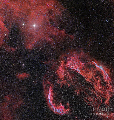 The Veil Nebula In The Constellation Poster by John Davis