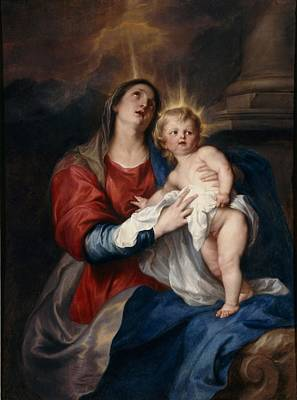 The Virgin And Child Poster by Sir Anthony Van Dyck