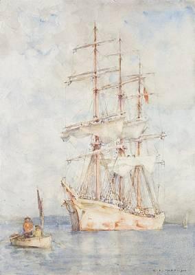 The White Ship Poster by Henry Scott Tuke