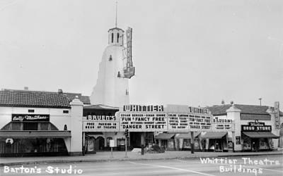 The Whittier Theatre Complex, Bruens Poster by Everett