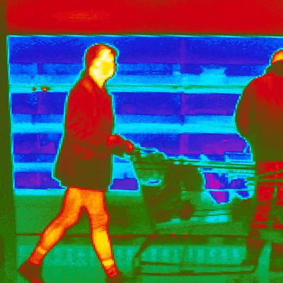 Thermogram Of A Woman In A Supermarket Poster by Dr. Arthur Tucker