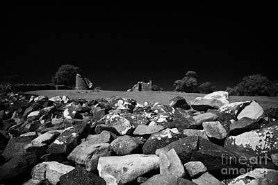 Thick Exterior Wall Around The Remains Of The 6th Century Monastic Site At Nendrum On Mahee Island Poster by Joe Fox