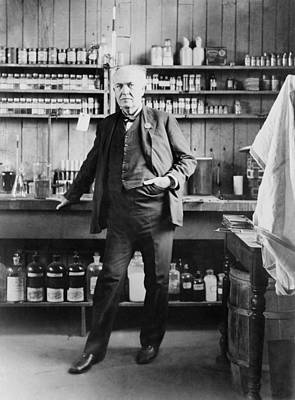 Thomas A. Edison 1847-1931, In His West Poster by Everett