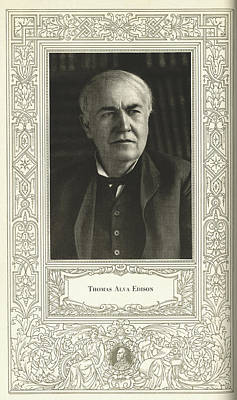 Thomas Edison, American Inventor Poster by Science, Industry & Business Librarynew York Public Library