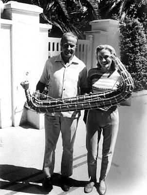Thor Heyerdahl And Wife Yvonne Poster by Everett