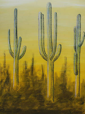 Three Cactus Poster by M Valeriano