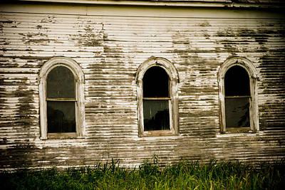 Three Church Windows Poster by Toni Hopper