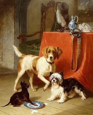 Three Dogs Poster by Conradyn Cunaeus