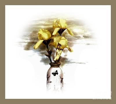 Three Irises Poster by Marsha Heiken