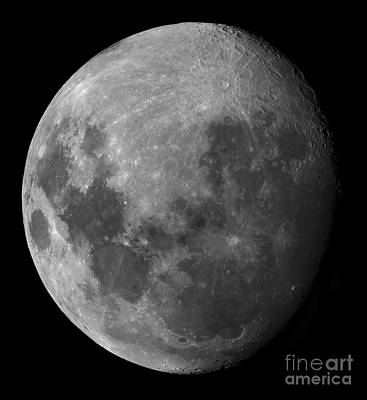 Three Quarter Moon Poster by Rolf Geissinger