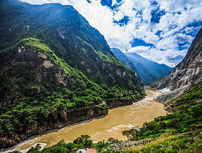 Tiger Leaping Gorge And Jinsha River, China Poster by Feng Wei Photography
