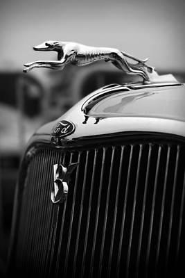 Timmis-ford V8 Greyhound Hood Ornament Poster by Gordon Dean II