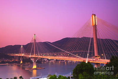 Ting Kau Bridge Poster by MotHaiBaPhoto Prints