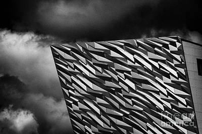 Titanic Building Titanic Quarter Queens Island Belfast Northern Ireland Uk Poster by Joe Fox