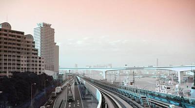Tokyo Train Ride 3 Poster by Naxart Studio