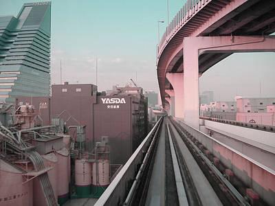 Tokyo Train Ride 5 Poster by Naxart Studio