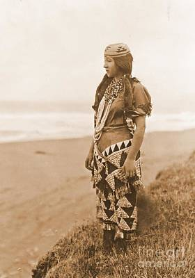 Tolowa Womans Primitive Dress Poster by Padre Art