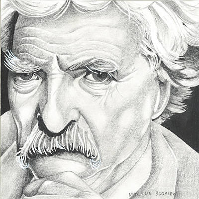 Tom Selleck As Mark Twain Poster by Martha Booysen
