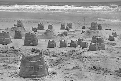 Topsail Island Sandcastle Poster by Betsy Knapp