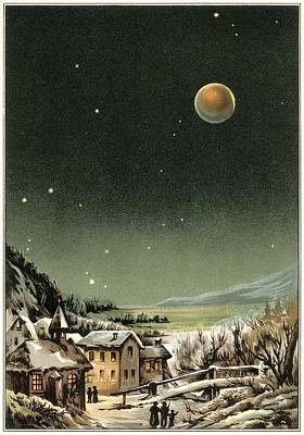 Total Lunar Eclipse Of 1877 Poster by Detlev Van Ravenswaay