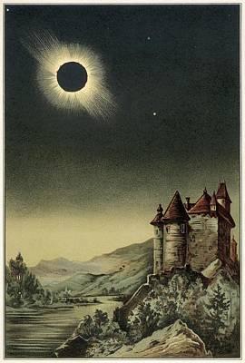 Total Solar Eclipse Of 1842 Poster by Detlev Van Ravenswaay