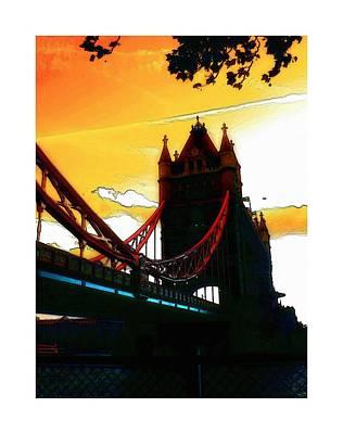 Tower Bridge London Poster by Stefan Kuhn