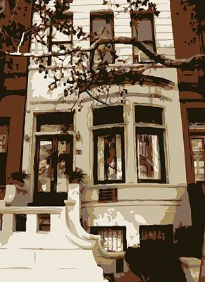 Townhouse Color 6 Poster by Scott Kelley