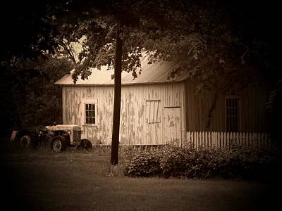 Tractor Picket Fence Poster by Michael L Kimble