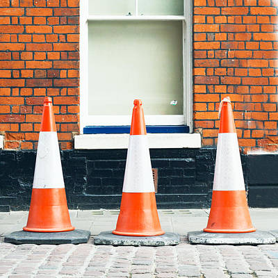 Traffic Cones Poster by Tom Gowanlock
