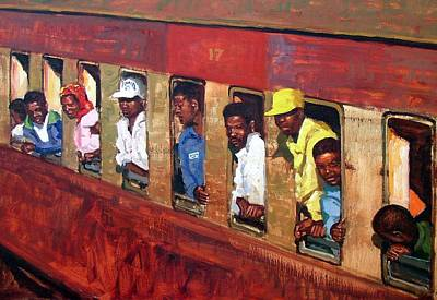 Train To Mozambique Poster by Roelof Rossouw