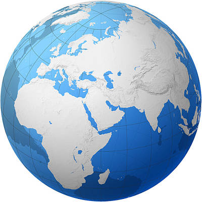 Transparent Globe -- Africa And Eurasia Poster by Cartesia