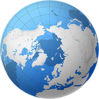 Transparent Globe -- Northern Hemisphere Poster by Cartesia