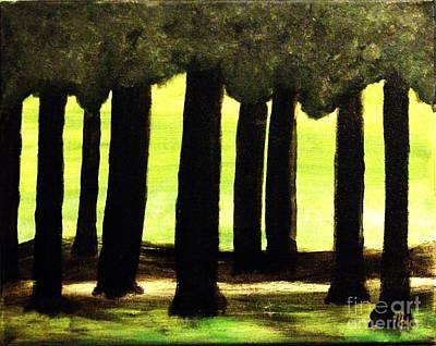 Trees Along The Golf Course Poster by Marsha Heiken