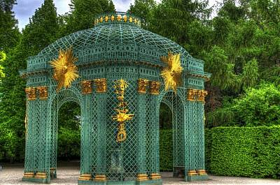 Trellis At Schloss Sanssouci Poster by Jon Berghoff
